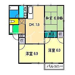 メゾン・ド・藤[2階]の間取り