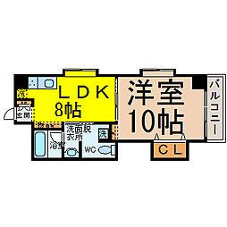 TRUSTY千代田[9階]の間取り