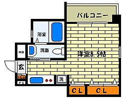 兵庫県神戸市東灘区深江本町3丁目の賃貸マンションの間取り