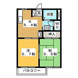 ラ・ルミエールM1[2階]の間取り