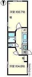 Mハウス[205号室号室]の間取り