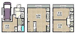 建物参考プラン LDK20帖 大型車庫 全室7帖以上