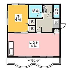 清水第3マンション[3階]の間取り