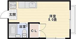 エステートピアタケダ[1階]の間取り