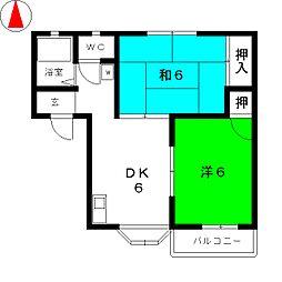 エトアール小幡S棟[2階]の間取り