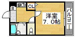 コーポ鈴[2階]の間取り