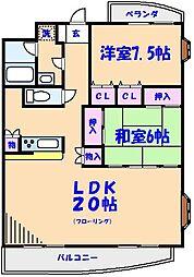 マンション・エスポワール[205号室]の間取り