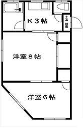 三協マンション[2階]の間取り