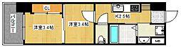 MARK AVENUE TOWER 久留米No、99[13階]の間取り