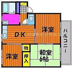 サンライフu C棟[1階]の間取り