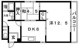 ラカーサ阪南町[3階]の間取り