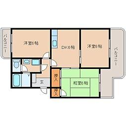 静岡県静岡市清水区七ツ新屋の賃貸マンションの間取り