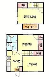 [テラスハウス] 神奈川県横須賀市佐野町4丁目 の賃貸【/】の間取り