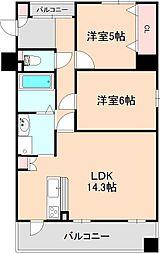 クロツヴィア桜塚[3階]の間取り