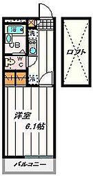 埼玉県さいたま市桜区栄和6丁目の賃貸アパートの間取り