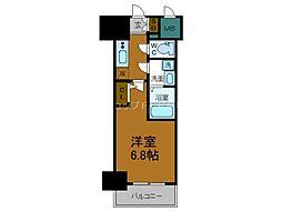 Osaka Metro千日前線 鶴橋駅 徒歩2分の賃貸マンション 11階1Kの間取り