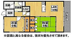 福岡県遠賀郡水巻町立屋敷3丁目の賃貸アパートの間取り