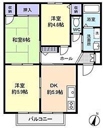 シャーメゾン壱番館[1階]の間取り