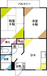 サンシティ川崎II[102号室]の間取り