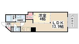 ブリーゼ池田栄本町[5階]の間取り