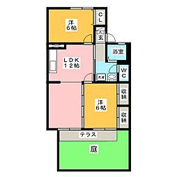 セジュール森島[1階]の間取り