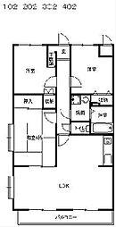 マノワール壱番館[2階]の間取り