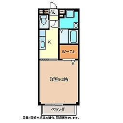 長野県須坂市大字塩川の賃貸アパートの間取り