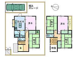 [一戸建] 奈良県奈良市敷島町2丁目 の賃貸【/】の間取り