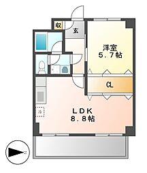 第27オーシャンハイツ[8階]の間取り