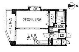 パラディス小笹[2階]の間取り