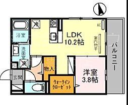 D-room住吉 2階1SLDKの間取り