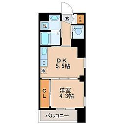 S-FORT片平[9階]の間取り