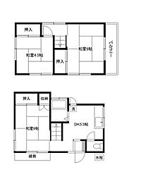 [一戸建] 埼玉県富士見市上沢3丁目 の賃貸【/】の間取り