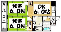 福岡県春日市一の谷3丁目の賃貸マンションの間取り