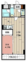 THE SQUARE・Club Residence[702号室]の間取り