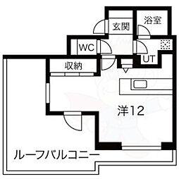 Mina八事石坂 5階ワンルームの間取り