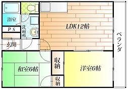 ウルメゾン源六[2階]の間取り
