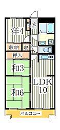 浅野谷ハイツ[4階]の間取り