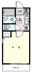 テラ横浜大口[101号室]の間取り