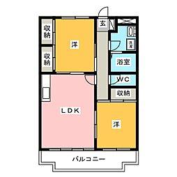 アーバンK・F[3階]の間取り