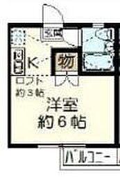 ユタカハイツ[0206号室]の間取り