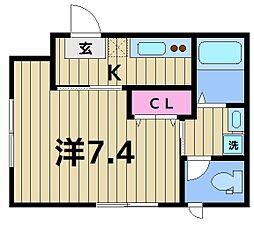 亀有5丁目計画(仮) 3階1Kの間取り