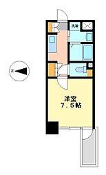 プレサンス栄ラグジュ[6階]の間取り