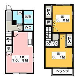 [テラスハウス] 静岡県浜松市南区白羽町 の賃貸【/】の間取り