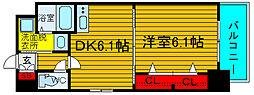 KDXレジデンス難波南[8階]の間取り