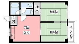 マンション五番町[303号室]の間取り