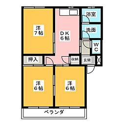 パークハイム カトウ[1階]の間取り
