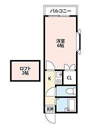 スリム志井駅前[2階]の間取り