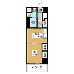 タムズコンフォート[4階]の間取り