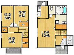 [一戸建] 福岡県福岡市南区老司5丁目 の賃貸【/】の間取り